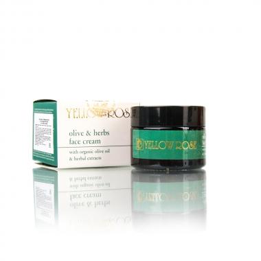 Yellow Rose OLIVE & HERBS FACE CREAM Крем для лица с оливковым маслом и растительными экстрактами (50 мл)