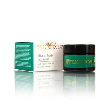 YELLOW ROSE Olive & Herbs Face Scrub Скраб для лица с оливковым маслом и растительными экстрактами (50 мл)