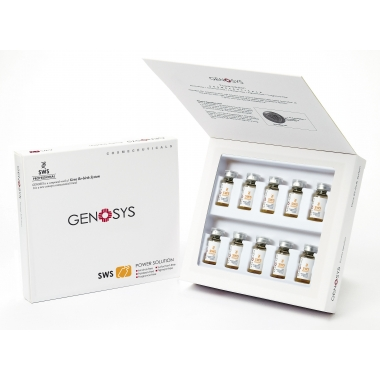 Отбеливающая сыворотка для лица с пептидами GENOSYS SWS POWER SOLUTION KIT 10 ампул х 2мл