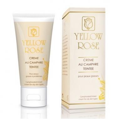 Yellow Rose CREME AU CAMPHRE TEINT Крем тонирующий с камфорой для проблемной и жирной кожи (50 мл)