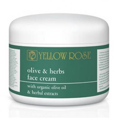 Yellow Rose OLIVE & HERBS FACE CREAM Крем для лица с оливковым маслом и растительными экстрактами (250 мл)