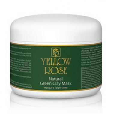 YELLOW ROSE NATURAL GREEN CLAY Маска с зеленой глиной для жирной и комбинированной кожи (250 мл)