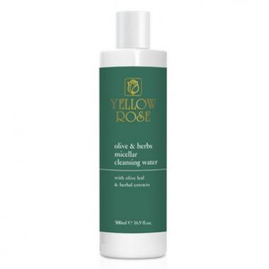 YELLOW ROSE Olive & Herbs Micellar Cleansing Water Вода очищающая мицеллярная с листьями оливы и растительными экстрактами (500 мл)